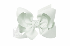 Beyond Creations Girls Grosgrain Double Knot Bow on Clip - Powder Mint Green