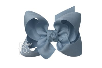 Girls Grosgrain Double Knot Bow on Clip - Williamsburg Blue