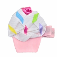 Girls Pinch Clip Add-On to Bow - Birthday Cupcake - Light Pink