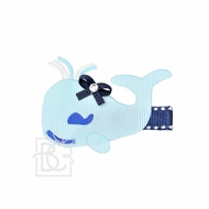 Girls Pinch Clip Add-On to Bow - Blue Whale