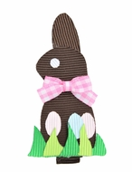Girls Pinch Clip Add-On to Bow - Easter Bunny - Chocolate Brown