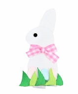 Girls Pinch Clip Add-On to Bow - Easter Bunny - White