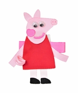 Beyond Creations Girls Pinch Clip Add-On to Bow - Pink Peppa Pig