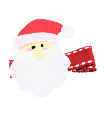 Girls Pinch Clip Add-On to Bow - Santa Claus