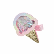 Beyond Creations Girls Pinch Clip Add-On to Bow - Shaker Ice Cream Cone