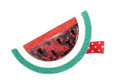 Girls Pinch Clip Add-On to Bow - Shaker Watermelon - Red