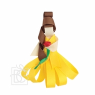 Beyond Creations Girls Pinch Clip Add-On to Bow - Yellow Beauty & The Beast Belle