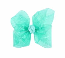 Girls Waterproof Hair Bow - Aquamarine