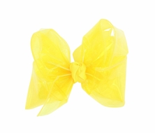 Girls Waterproof Hair Bow - Bright Yellow