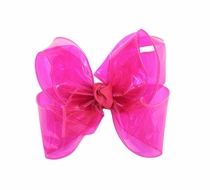 Girls Waterproof Hair Bow - Fuchsia