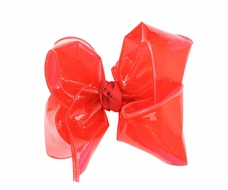 Girls Waterproof Hair Bow - Red