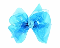 Girls Waterproof Hair Bow - Turquoise