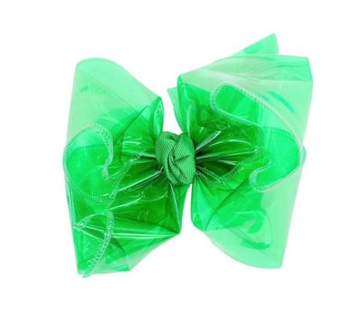 Girls Waterproof Hair Bow - Emerald Green