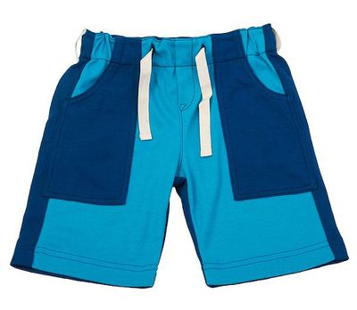 Gnu Brand by Lemon Loves Lime Boys Patch Cargo Shorts - Bright Blues