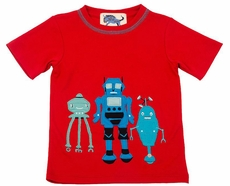 Gnu Brand by Lemon Loves Lime Boys Red Three Musketeers Robots Shirt