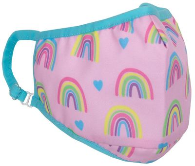 iscream Girls Face Mask - Pink Rainbows & Hearts