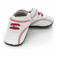 Jack & Lily Baby / Toddler Boys Shoes - White Leather Mickey Baseball Shoes