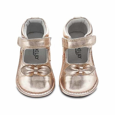 Jack & Lily Baby / Toddler Girls Shoes - Cassia Double Bow - Rose Gold