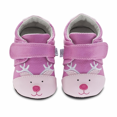 Jack & Lily Baby / Toddler Girls Shoes - Pink Noelle Reindeer