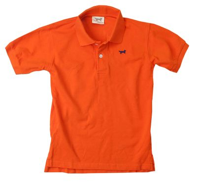 Jack Thomas Boys Classic Pique Polo Shirt - Orange Crush