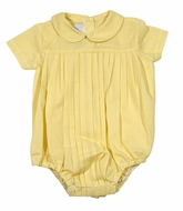 James & Lottie Baby Boys Yellow Gingham Finn Bubble