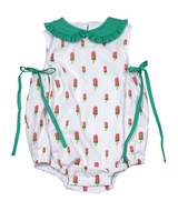 James & Lottie Baby / Toddler Girls Frannie Bubble - Watermelon Popsicles with Green Ties