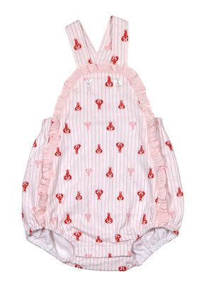James & Lottie Baby / Toddler Girls Red / Pink Lobsters Sara Bubble
