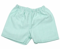 James & Lottie Boys Conrad Shorts - Mint Green Seersucker