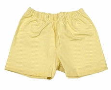 James & Lottie Boys Yellow Gingham Conrad Shorts - Lemon Print Back Pocket
