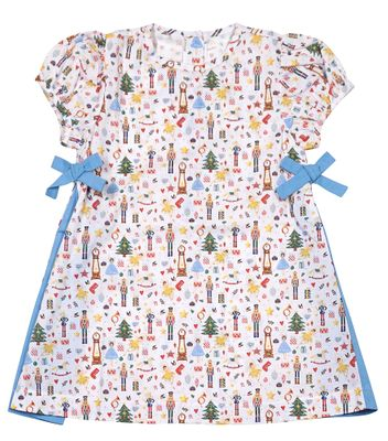 James & Lottie Girls Nori Nutcracker Print Christmas Dress