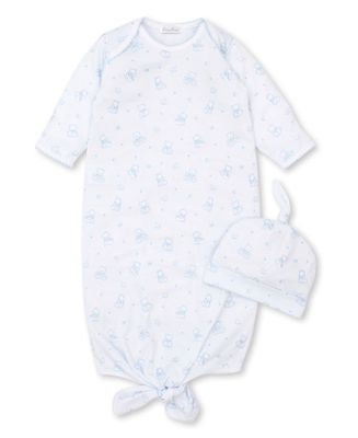 Kissy Kissy Baby Boys Bearly Believable Teddy Bear Sack Gown & Hat - Blue
