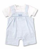 Kissy Kissy Baby Boys Blue Bunny Buzz Overall Set
