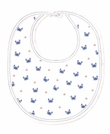Kissy Kissy Baby Boys Blue Crab Craze Print Bib