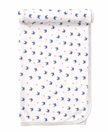 Kissy Kissy Baby Boys Blue Crab Craze Print Blanket