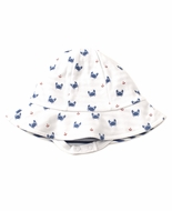 Kissy Kissy Baby Boys Crab Craze Print / Stripes Reversible Sun Hat - Blue