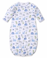 Kissy Kissy Baby Boys Blue Dino Crew Converter Gown