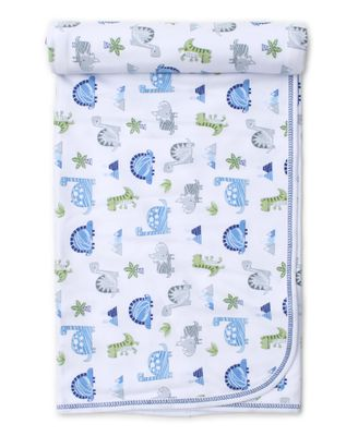Kissy Kissy Baby Boys Blue Dino Crew Receiving Blanket