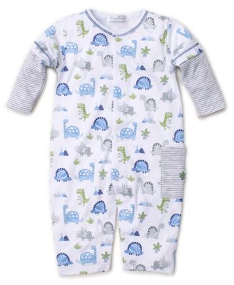 Kissy Kissy Baby Boys Blue Dino Crew Romper Playsuit