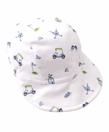 Kissy Kissy Baby Boys Blue Double Bogey Golf Cap Hat