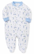 Kissy Kissy Baby Boys Blue First Golf Tee Print Footie with Zipper