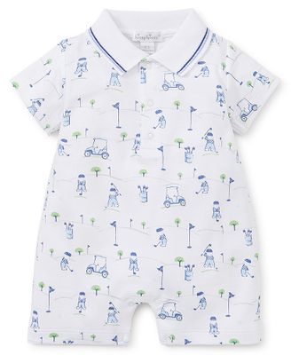 Kissy Kissy Baby Boys Blue First Golf Tee Romper with Collar
