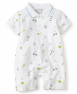 Kissy Kissy Baby Boys Blue / Green Daddy's Golf Caddy Short Playsuit Romper