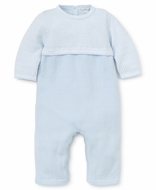 Kissy Kissy Baby Boys Indulgence Sweater Knit Playsuit Romper - Blue