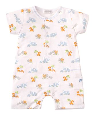 Kissy Kissy Baby Boys Blue Safari Siblings Short Playsuit Romper