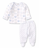 Kissy Kissy Baby Boys Shabby Sheep Footed Pant Set - Blue