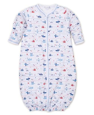 Kissy Kissy Baby Boys Blue Sky Riding Airplanes Print Converter Gown