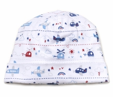 Kissy Kissy Baby Boys Blue Sky Riding Airplanes Print Hat