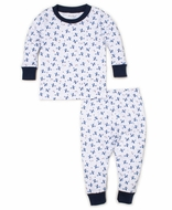 Kissy Kissy Baby Boys Blue Sky Riding Airplanes Print Pajamas