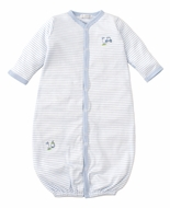 Kissy Kissy Baby Boys Blue Stripe Double Bogey Golf Converter Gown