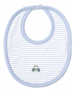 Kissy Kissy Baby Boys Blue Striped Double Bogey Golf Cart Bib